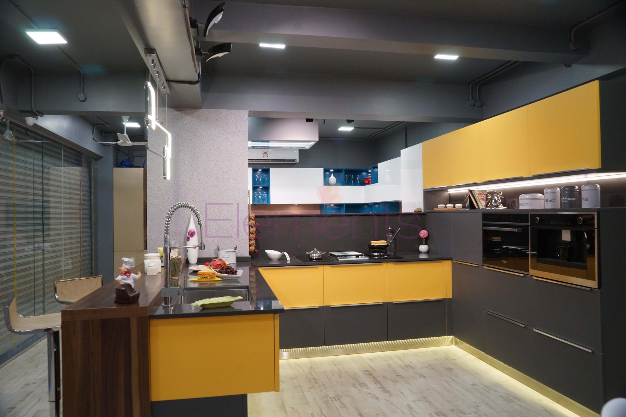 Best Modular Kitchen In Thane Elements Modular Kitchen,High End Modern Interior Design