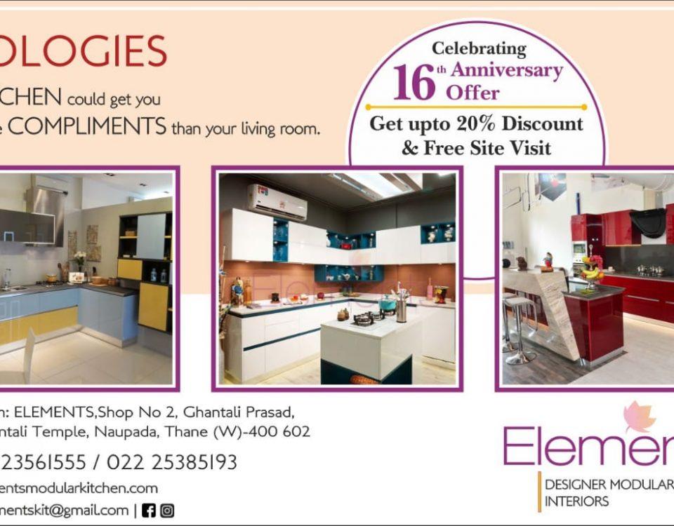 Elements Modular Kitchen 16th Anniversary Offer